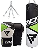 RDX Boxsack Set Gefüllt Kickboxen MMA Muay Thai Boxen mit Stahlkette Training Boxhandschuhe Kampfsport Schwer 4FT 5FT Punching Bag - 2
