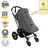 SnoozeShade Original Deluxe - universal fit baby pram sunshade and blackout cover for strollers, buggies and pushchairs