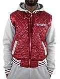 Notorius Jacke College Style Jacket Herren Streetwear Schwarz-Grau oder Rot-Grau mit Kapuze - Modell Milano (M, Bordeaux)