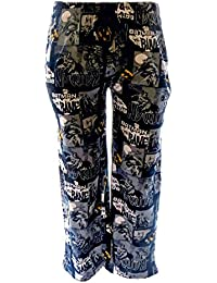New Mens Batman Comic Character Pyjama Bottoms Lounge Wear Pants (Blue) S