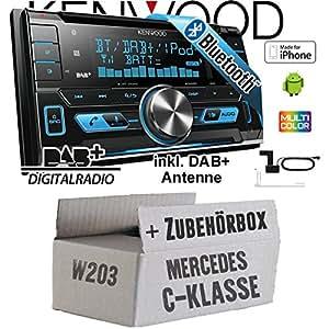 DAB+ USB Autoradio inkl Einbauset f/ür Mercedes E- JUST SOUND best choice for caraudio JVC KD-DB67 DAB+ Digitalradio Antenne