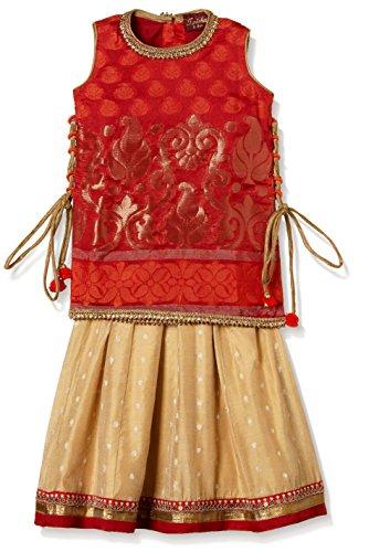 TWISHA Baby Girls' Regular Fit Ghagra Choli (AW17-XP-GCH145-18m_Gold)