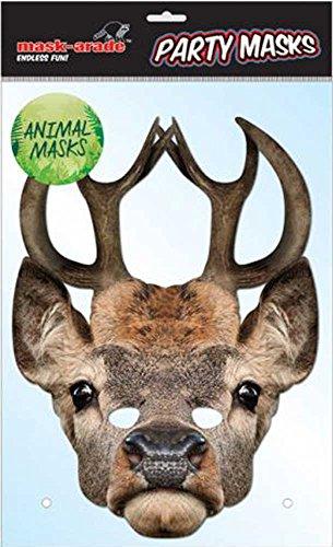 empireposter Tier Maske Hirsch - hochwertiger Glanzkarton mit Augenlöchern