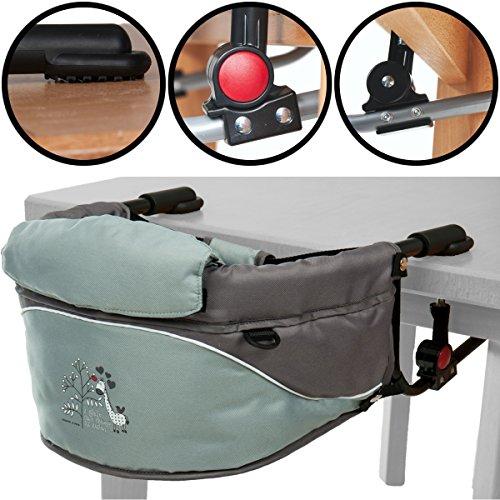 Tischsitz / Hochstuhl / Stuhlsitz mit Giraffen-Aufdruck und Transporttasche (Bis 15Kg)