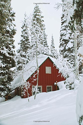 Snowed in Cabin Notebook: 150 page lined 6 x 9 notebook/diary/journal
