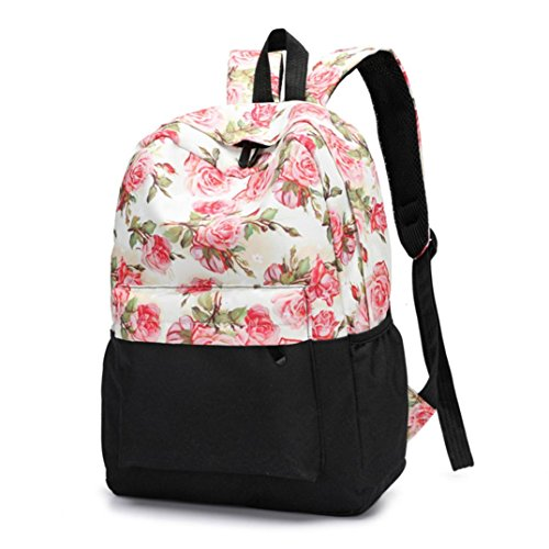 Frischer Stil Frauen Rucksäcke Blumendruck Bookbags Female Reiserucksack Reise Rucksack Backpack C