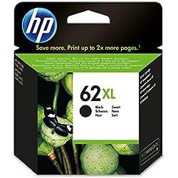 HP 62XL - Cartucho de tinta Original HP 62 XL de álta capacidad Negro para HP OfficeJet 5740 HP ENVY 5540, 5640, 7640