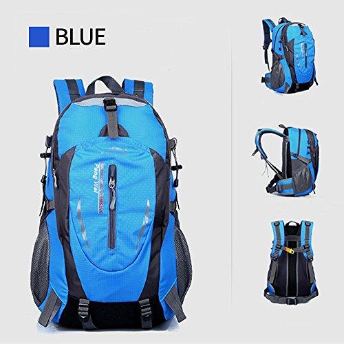 ohome Wandern Rucksack/Tasche wasserdicht groß leicht Reisen Rucksack/Camping Rucksack/Trekking Rucksäcke Outdoor Sport Klettern Bergsteigen Tasche 40L O-Blue