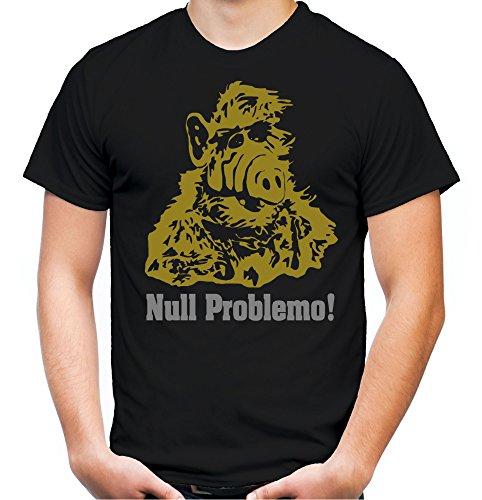 Alf Männer und Herren T-Shirt | Vintage Kleidung Outfit Geschenk | M1 (XXXL, Schwarz)