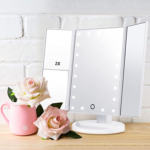 Espejo de maquillaje pantalla táctil Regalo para mujer