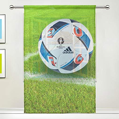 XiangHeFu Sport Erba da Calcio Sheer Curtain Tulle Voile Finestra Tende per Camera da Letto,55(W) x78(L) inch,1Pannello, Poliestere, Image 596, 55x84x1(in)