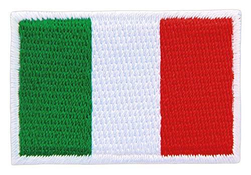 Patch Italien Flagge Klein Italy Aufnäher Bügelbild Größe 4,6 x 3,0 cm