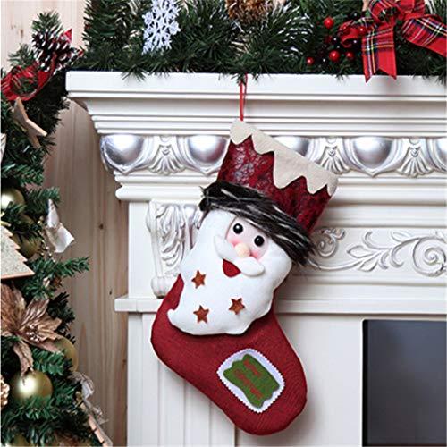 Vijtian - sacchetto regalo in stile rétro con calzini natalizi, per decorare la tua casa il giorno di natale è un bel ornamento