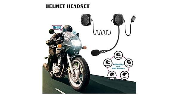 lesgos Cuffie Wireless per Casco da Moto, Sistema di