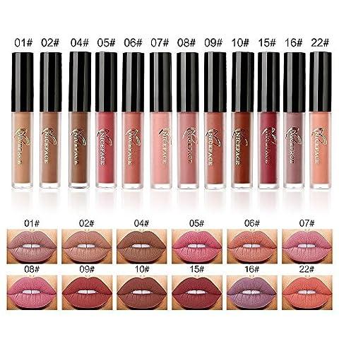 Valuemakers 12 couleurs mat Nude Lip Gloss Rouge à lèvres Liquid Foundation Lèvre Maquillage cosmétique