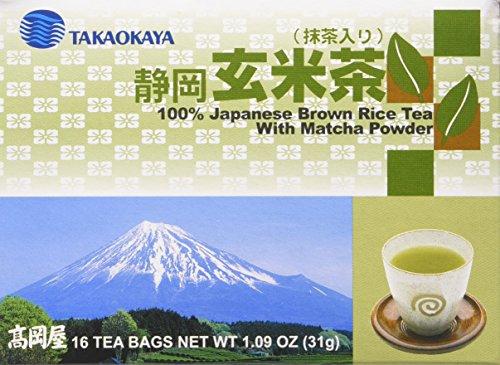 Takaokaya Japanese Brown Rice Tea with Matcha Powder (Genmai Cha) by Takaokaya