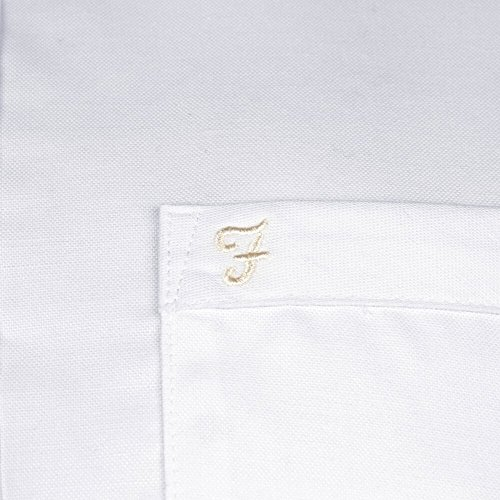 Drayton Farah Oxford Chemis'à manches courtes pour homme Blanc