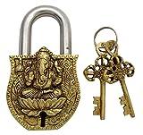 Lord Ganesha Entwurf Antike Finishing Startseite Dekorative Handcrafted Padlock Verschluss