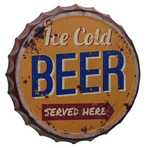 Gr Cartel de Chapa 33cm Ice Cold Beer chapas Cerveza Cartel para Par