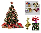 #7: WebelKart 76 pcs Christmas Tree Decorations Set (Balls, Bells, Gifts, Pine Trees, Stars, Candy Sticks & Santa Claus)