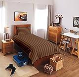 300 TC Satin Stripes Cotton Single Bedsh...