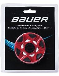 Bauer RH sliv vver Red de pieza Puck, Rojo, M