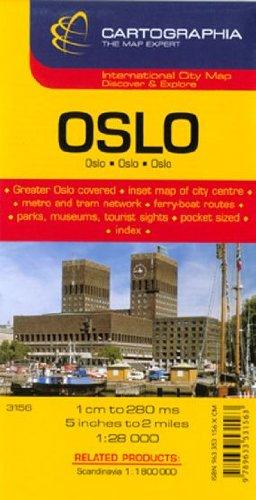 Plano Cartographia Oslo (City Map) por Cartographia