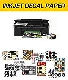 WATERSLIDE DECAL PAPER, PAPIER DE DECALQUE, IMPRESSION INKJET, TRANSPARENTE, 3 FEUILLES A4