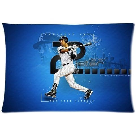 Moda e moderno Derek Jeter New York Yankees Baseball Custom Zippered Pillowcase Federe, 20x 30(due lati misura standard) by Custom federa