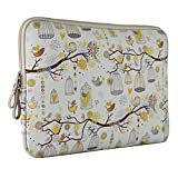Estarer Neoprene Imitation Leather Notebook Laptop Sleeve Bag (13- 13.3 Inch) Macbook Air/Pro Case Birds Print