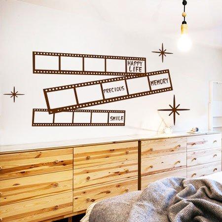HCCY Kunst umgekehrt Film große Wand Aufkleber Sofa Wohnzimmer Bar Hintergrund Wand Aufkleber Foto Wandaufklebern, B Kaffee, Groß
