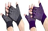Best Yoga Gloves - October Elf Breathable Non Slip Fingerless Design Wrist Review