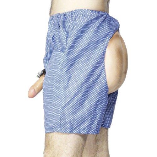 Bum Kostüm Shorts - NET TOYS Lustige Pohose mit Willy Bum Short Unterhose Junggesellenabschied Shorts JGA Accessoires Junggesellenabschied Herren