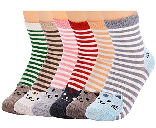 Eine Breite Von Sechs Tier (Fascigirl Karikatur Tier Socken Lustige Bunte Sneaker Knöchel Socken 6 Paar Pack)