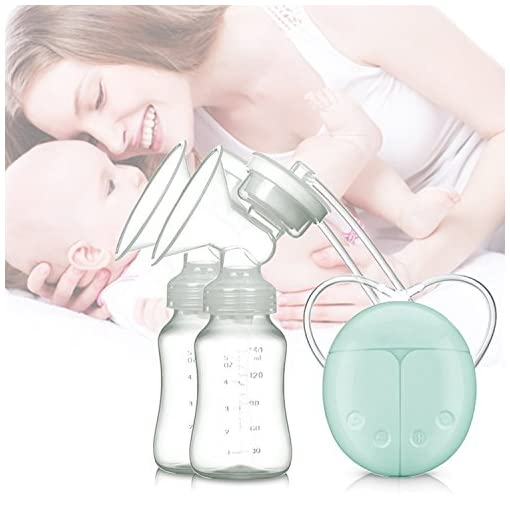 ZRYstore Breast Pump Double Breast pumps Safe Milk Storage Bottle Dual Control Milk Suction and Breast Massager Breast Care USB Charging 51YQkYZ2iPL