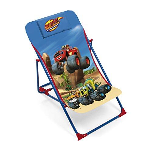 ARDITEX–Sillón de jardín/Playa Ajustable y Plegable para niños bajo Licencia Blaze y los Monster Machines (Metal y Tela, tamaño: 43x 66x 61cm, Tejido, 61x 43x 66cm)