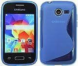 S-Line TPU SchutzHülle für Samsung Galaxy Pocket 2 G110HN Silikon Hülle in Blau @ Energmix