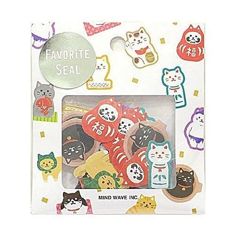 Katze Glückskatze Tier Sticker Päckchen von Mind Wave