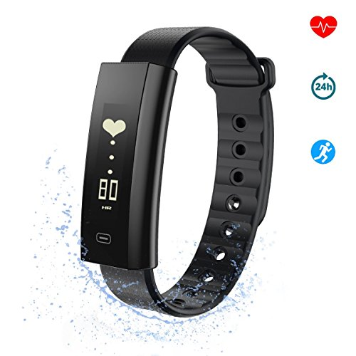 Fitness Tracker, Hizek Fitness Armbänder Wasserdichter Herzfrequenzmesser, Schrittzähler für Smartphone Android 4.3 / iOS 8.0 oder höher