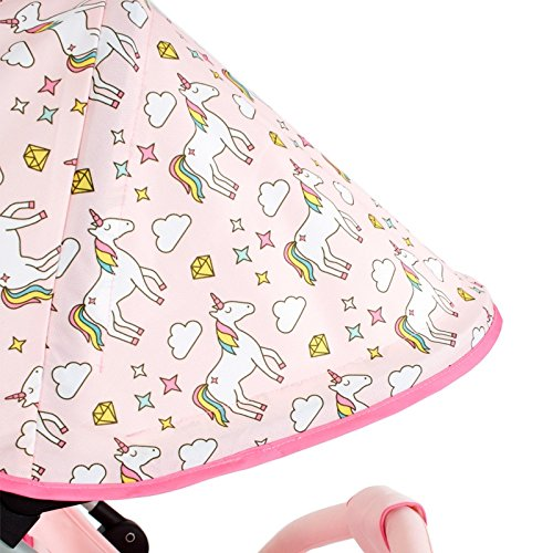 My Babiie MB02 Pink Unicorn Stroller – Includes Raincover