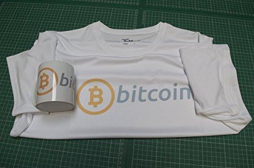 Bitcoin T Shirt Tee Shirt taza de café té taza regalo, X Large