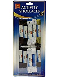 Pack of 10 pairs Activity Shoelaces, sports, walking, hiking boots etc. BS1001