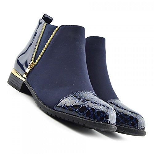 Kick Footwear Chelsea Boots, Stivali donna Navy