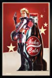 Fallout 4 Poster Nuka Cola Girl Standing (66x96,5 cm) gerahmt in: Rahmen schwarz