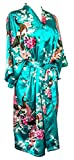 Bademantel Robe Wäsche -Nachtabnutzung Kleidbrautjunfer Junggesellinnenabschied (Türkis (Turquoise))