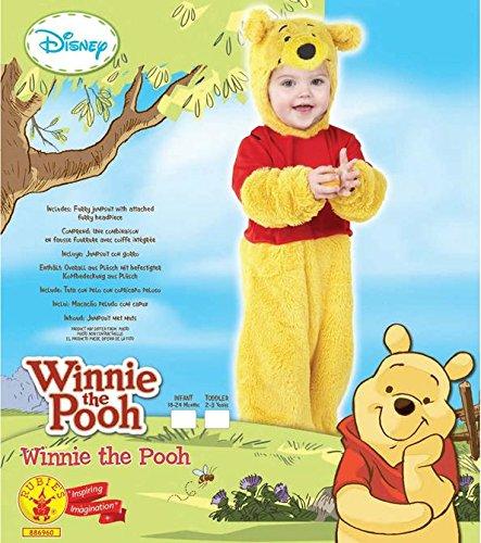 Winnie The Pooh - Disfraz de oso Winnie para niño, talla 1-2 años (Rubie's 886960-T)