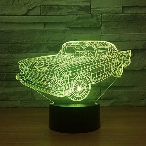 HHYXIN Veilleuse Voiture Coloré 3D Lampe Chambre À Coucher LED Créatif Nuit Lumière Nouvelle Fantaisie Vision 3D Luminaires Décorations De Noël