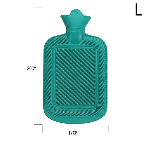 rungao Vier Größe dicken Gummi Wärmflasche Tasche warmen, angenehmen Wärme Kälte Therapie L