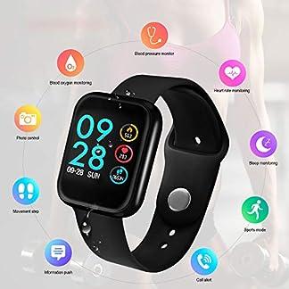 Yiwa Reloj Inteligente P70 Medición de la presión Arterial Monitor de Ritmo cardíaco Pulsera de Fitness Reloj Mujer Hombre Reloj Inteligente Soporte iOS Android Rosado