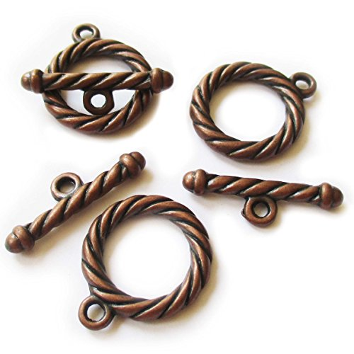 Tone Tiwsted Big Clasp Toggle Findings Jewelry Making 24X20/25X8mm ()